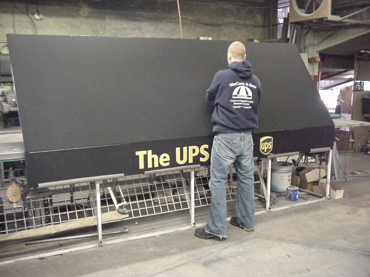 UPS in shop in production